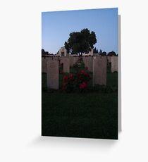 Graveyard Sentinel Greeting Card