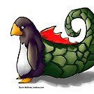 Dragon Penguin by Byron  McBride
