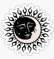 Sun and Moon Celestial Embrace Sticker