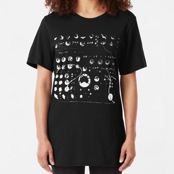 Binary Analog Technology Synthesizer Slim Fit T-Shirt