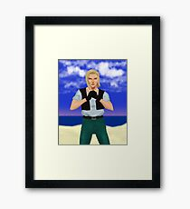Android 18 - Realistic Framed Print