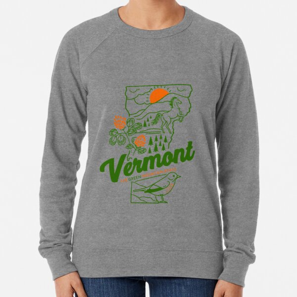 Vintage Vermont Shirt Lightweight Sweatshirt