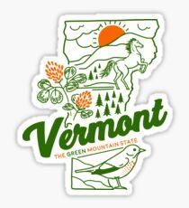 Vintage Vermont Shirt Sticker