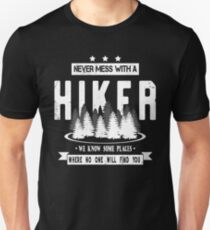 Never Mess With A Hiker Mountain Backpacking Trip T-Shirt
