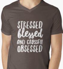 Crossfit Obsessed Men's V-Neck T-Shirt