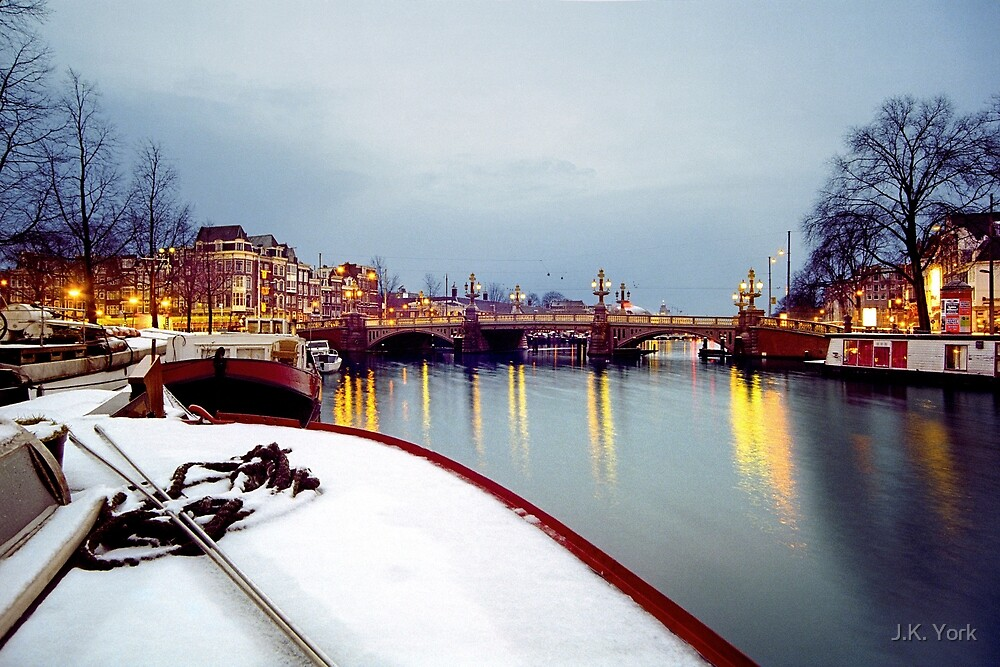 snow on the Amstel by J.K. York