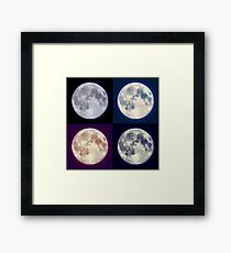 Moon (Supermoon) To The Rescue Framed Print
