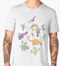 Dinosaur Desert Men's Premium T-Shirt