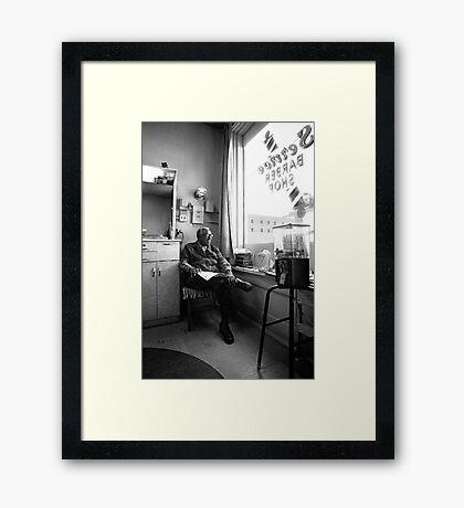 barbershop Framed Print