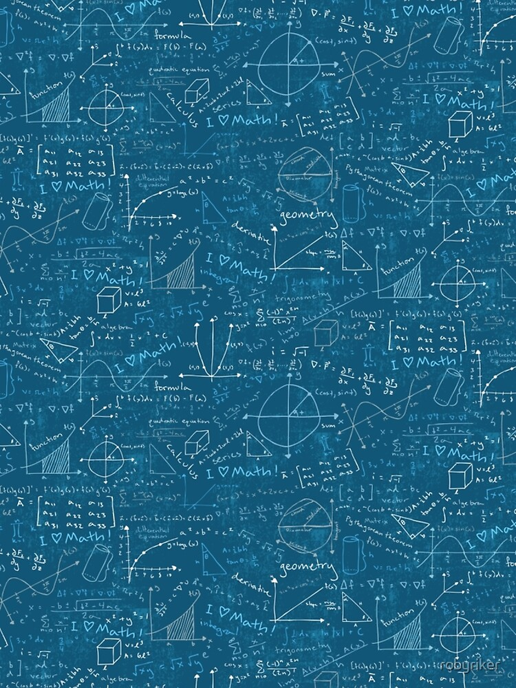 Math Lessons (Teal) by robyriker