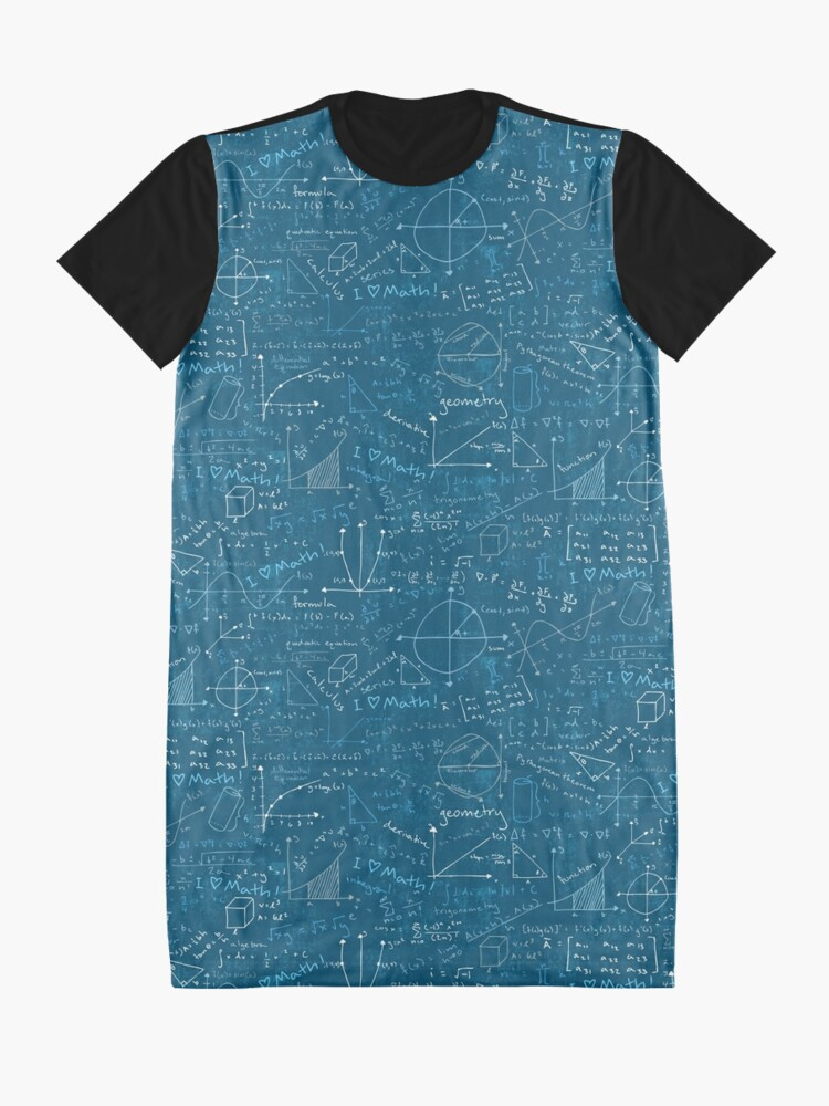 Alternate view of Math Lessons (Teal) Graphic T-Shirt Dress