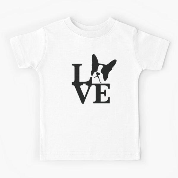 Boston Terrier Love Kids T-Shirt