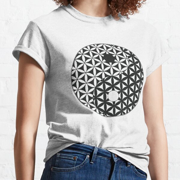 Flower of Life Space Time Yin Yang Classic T-Shirt