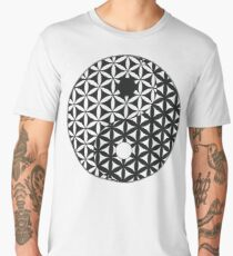 Flower of Life Space Time Yin Yang Men's Premium T-Shirt