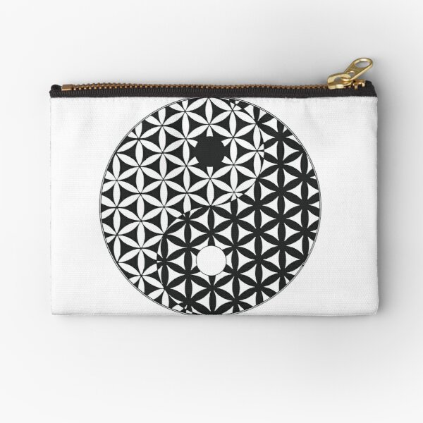 Flower of Life Space Time Yin Yang Zipper Pouch