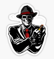 Gangster Skeleton  Sticker