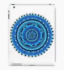 Blaue Mandala iPad-Hülle & Klebefolie