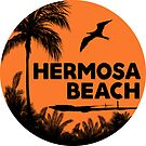 HERMOSA BEACH CALIFORNIA SURF OCEAN SURFING SURFER SURFBOARD STICKERS by MyHandmadeSigns