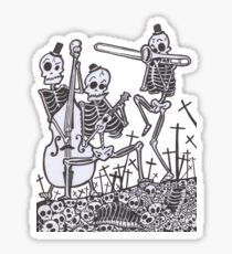 The Skeleton Jazz Band 2.0 Sticker