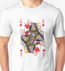 Extra Queen of Hearts from the 66-card designs (see artists noted for dedication) T-Shirt