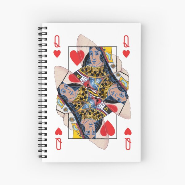 Extra Queen of Hearts from the 66-card designs (see artist's notes for dedication) Spiral Notebook