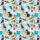 Dessert Dogs Pattern by Eli Benik