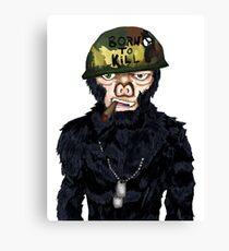Full Metal Jacket Chimp Canvas Print