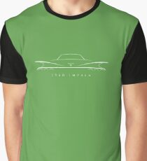 1960 Chevy Impala - rear Stencil, white Graphic T-Shirt