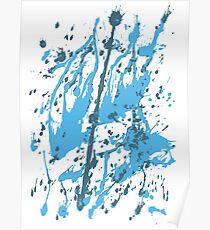 color blot spots blue Poster