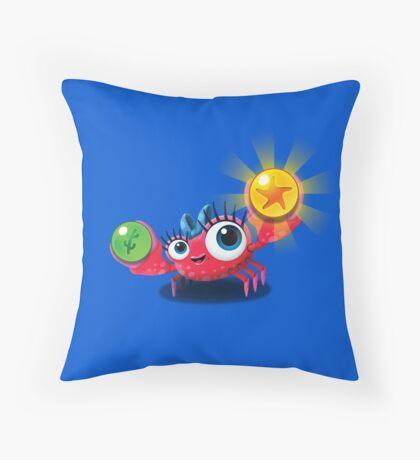 "Bubble Heroes - Kara the Crab ""Bubble"" Edition Throw Pillow"