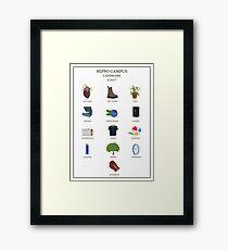 LANDMARK POSTER Framed Print