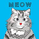MEOW! FLUFFY CAT DESIGN by Kat Pearson