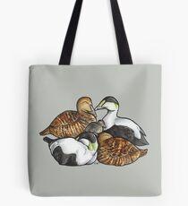 Sleeping pile of Eider ducks Tote Bag