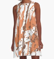 Color blot spots orange A-Line Dress