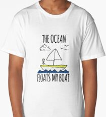 The Ocean Floats My Boat Long T-Shirt