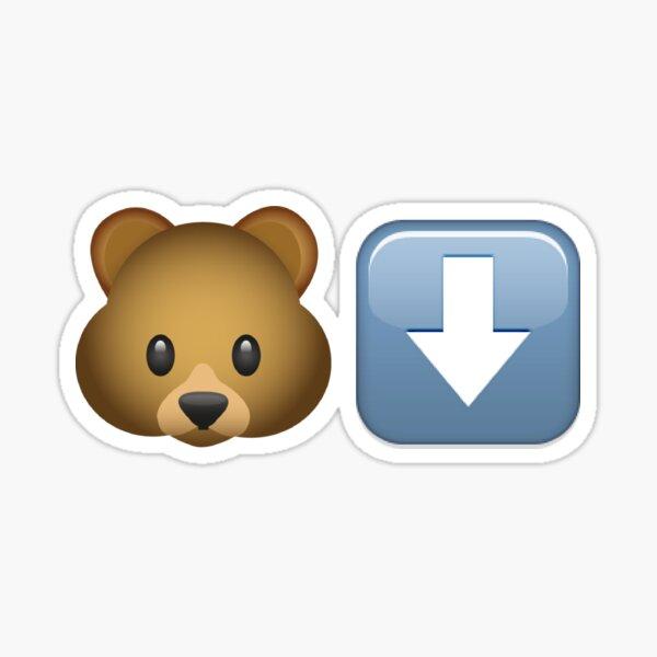 Bear Down Emoji Sticker
