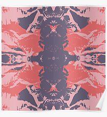 Color blot spots Imprint Poster