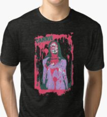 Scary Carrie (With Text) Tri-blend T-Shirt