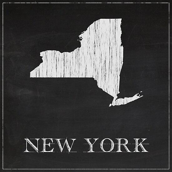 New York - Chalk by FinlayMcNevin