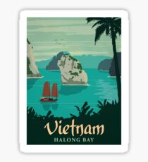 Vintage Travel Poster - Vietnam Sticker