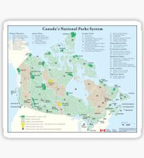 Canadian National Park System Map Sticker