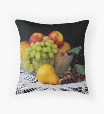 """Bowl of Fruit"" Throw Pillow"
