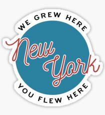 New York — We Grew Here, You Flew Here Sticker