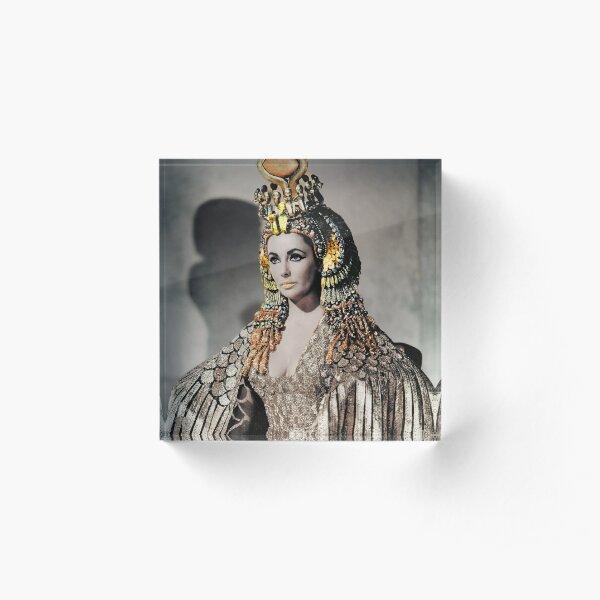 Elizabeth Taylor as Cleopatra Acrylic Block