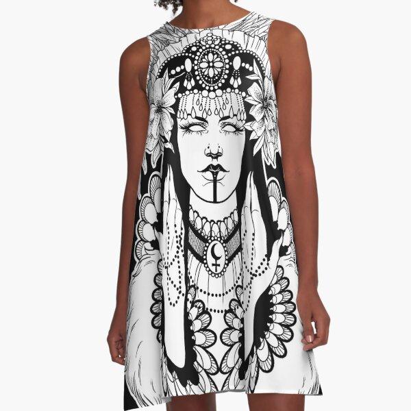 Left Hand Path Lilith A-Line Dress