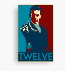 Peter Capaldi Hope Poster Canvas Print