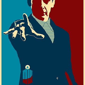 Peter Capaldi Hope Poster by zenjamin