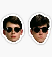 Ferris Bueller's Day Off - Ferris and Cameron Head Stickers Sticker