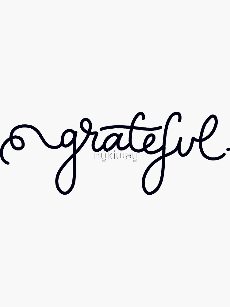 Grateful Calligraphy Script by nykiway