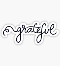 Grateful Calligraphy Script Sticker